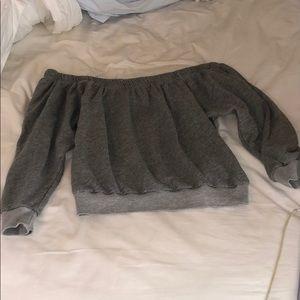 UO Off-the-shoulder Cropped Sweatshirt